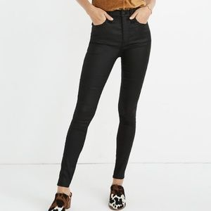 """Madewell 10"""" High-Rise Skinny Jeans Coated Edition"""